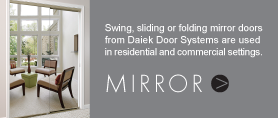 swing, sliding or folding mirror doors