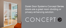 Concept Series doors for privacy and design.