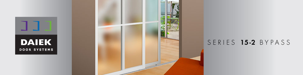 2 panels bypass sliding glass door series 15-2