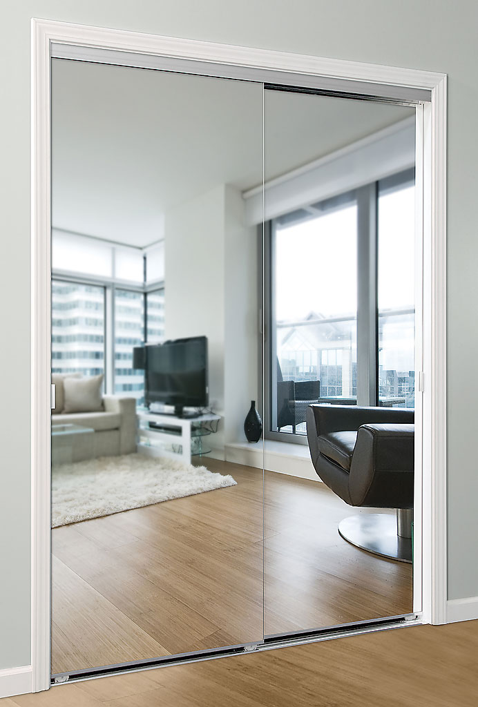 Series 5 sliding mirror door daiek door systems for Sliding mirror doors
