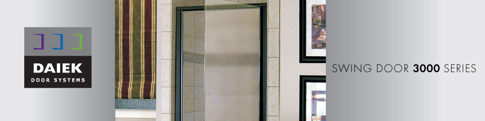 semiframeless swing glass shower door