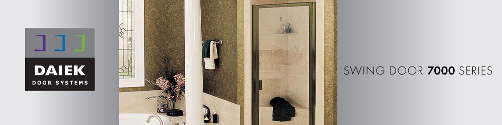 framed glass swing shower door