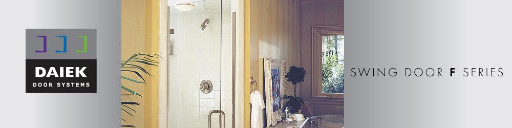 frameless swing glass shower door