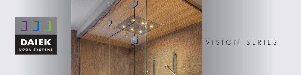 euro glass shower door vision series