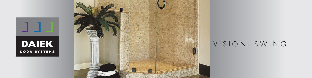 euro swing glass shower door